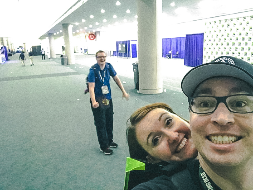empty halls of the San Diego convention center during Comic Con, late at night with no crowds