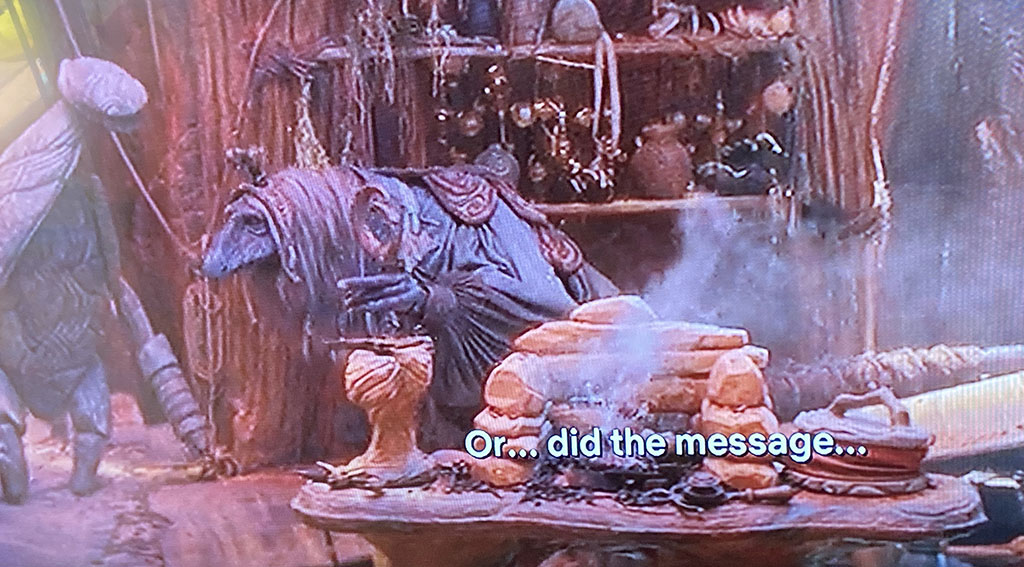 A screenshot from Dark Crystal: Age of Resistance on Netflix