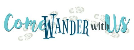 Come Wander With Us footsteps logo